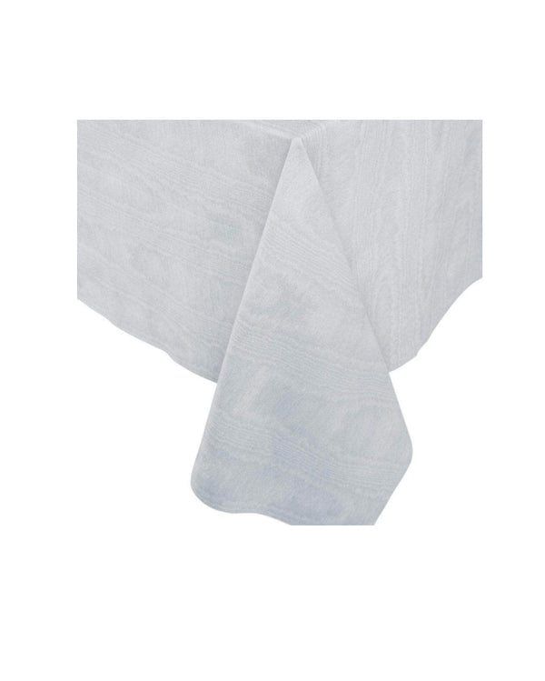 Silver Moire Paper Table Cloth