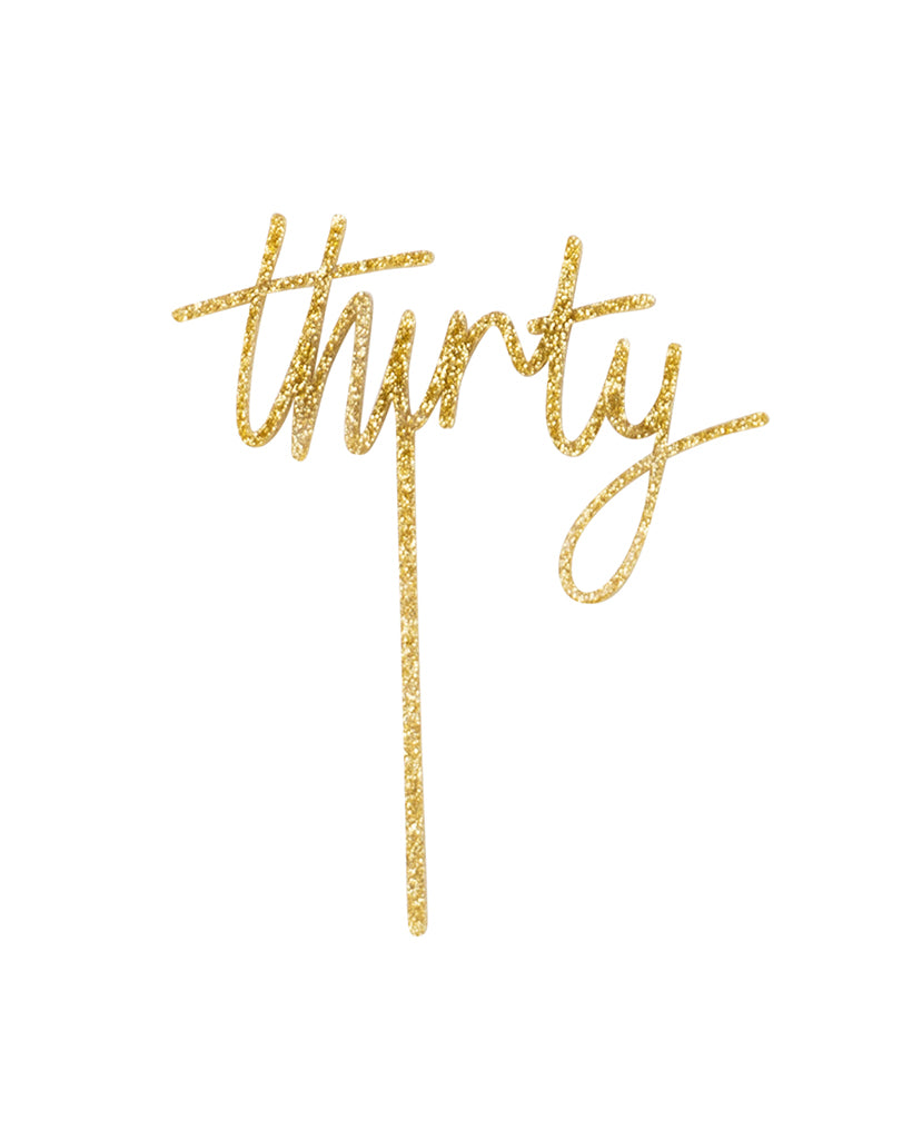Thirty Gold Cake Topper
