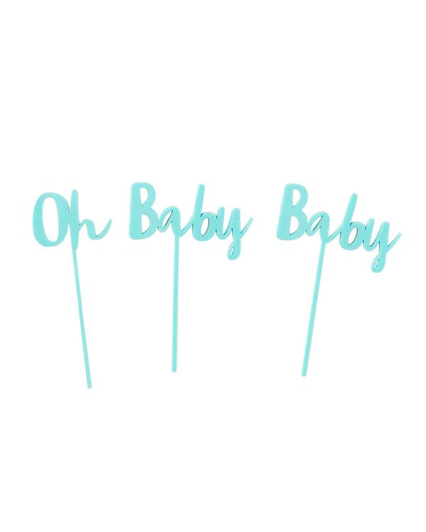 Oh Baby Baby Mint Cake Topper Set