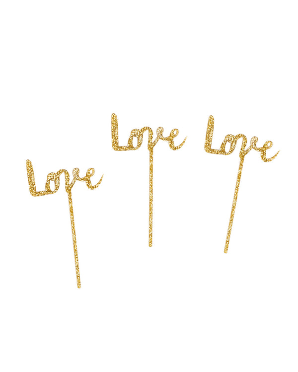 Love Cake Topper Set