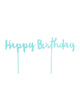 Happy Birthday Mint Cake Topper Set