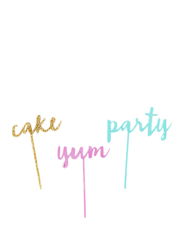 Party Cake Topper Set