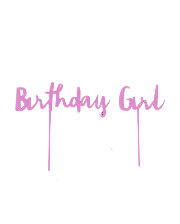 Birthday Girl Lilac Cake Topper Set