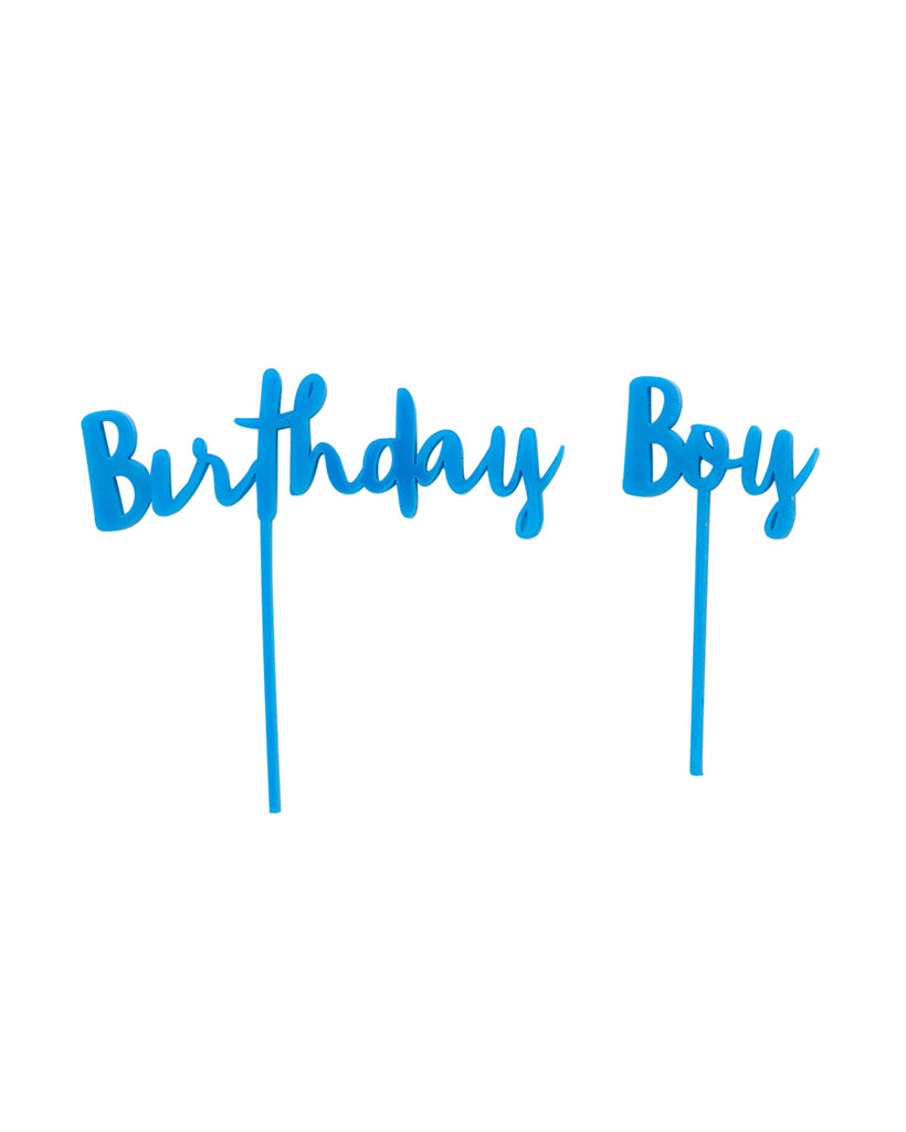 Birthday Boy Blue Cake Topper Set