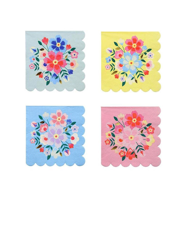 Bright Floral Small Napkins