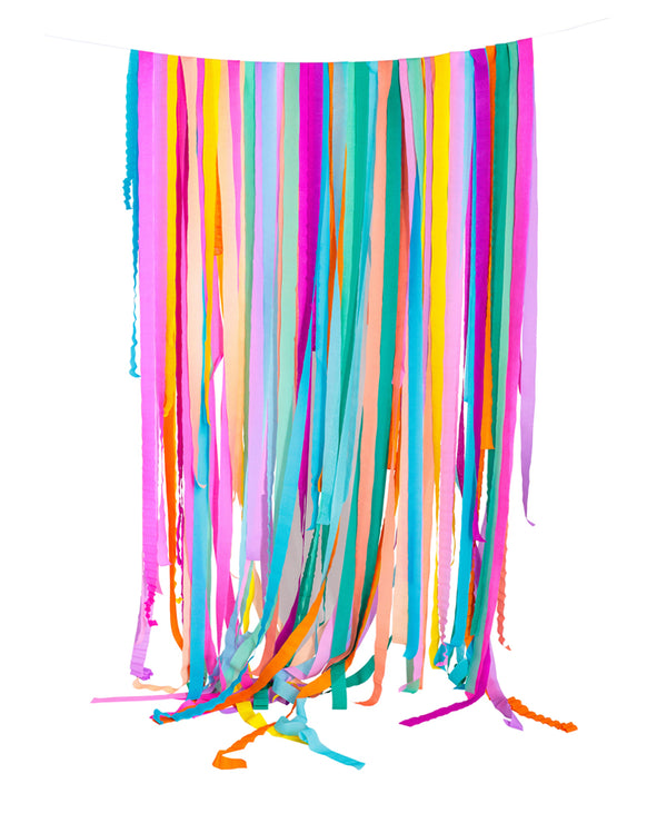 Custom Crepe Paper Streamer Set