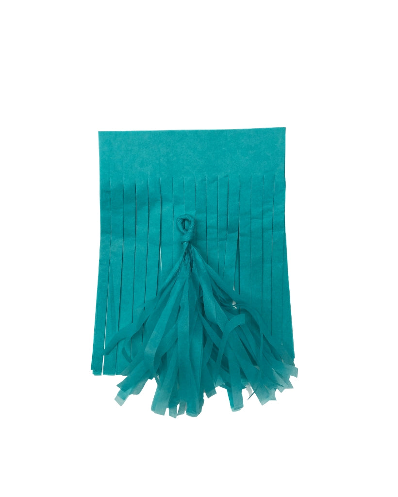 Dark Mint Tissue Paper Tassels