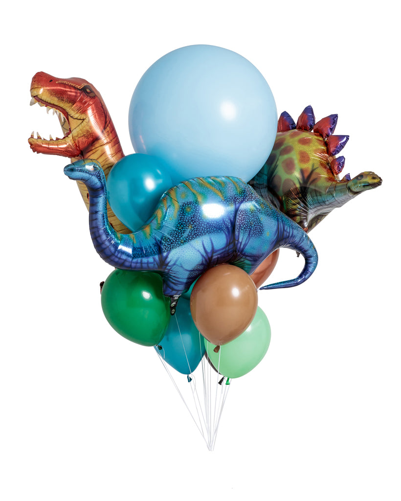 Dinosaur Balloon Bouquet Filled with Helium