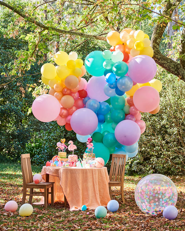 Large Pastel Rainbow Balloon Garland
