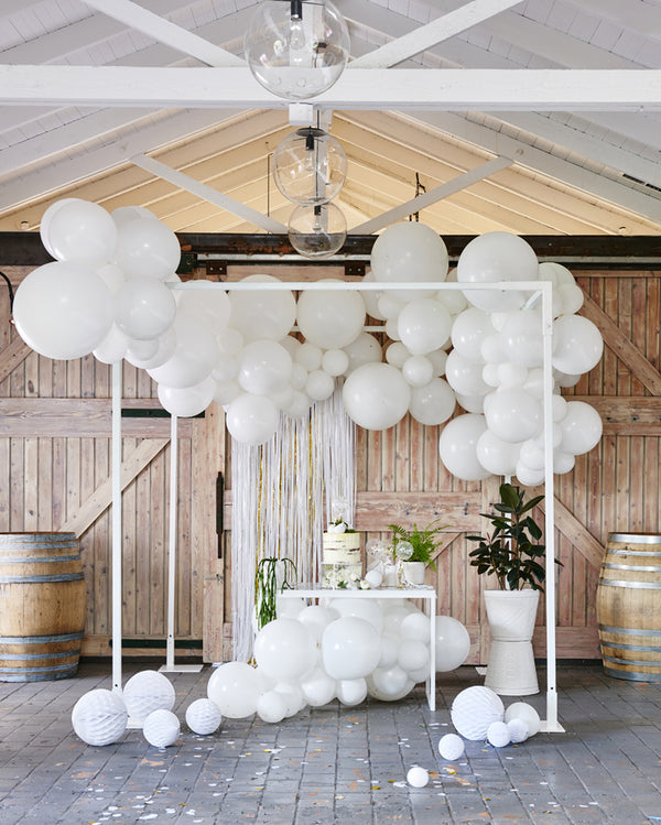 Large White Balloon Garland