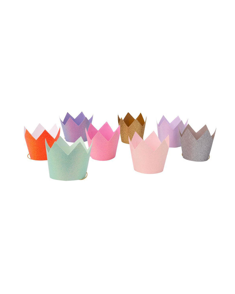 Colourful Glitter Party Crowns