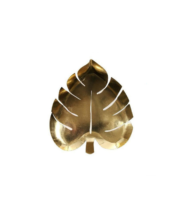 Gold Jungle Leaf Plate