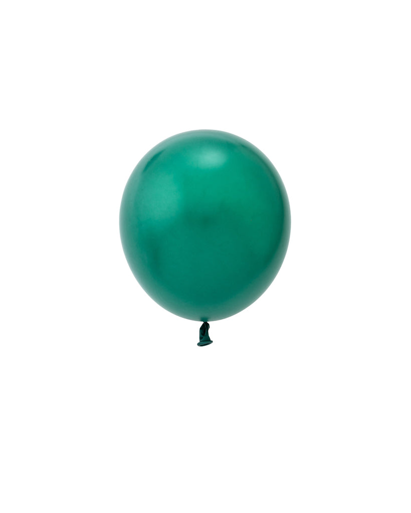 5 Flat Pearl Forest Green Mini Balloons