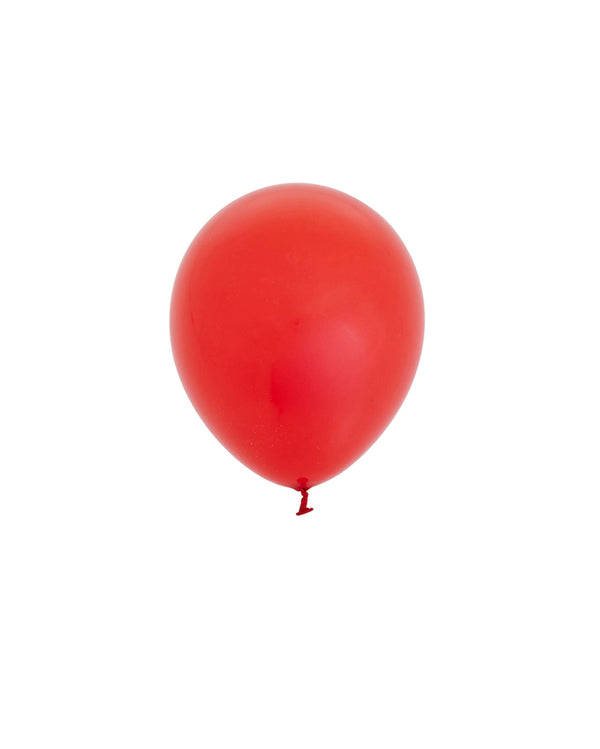 5 Flat Red Mini Balloons