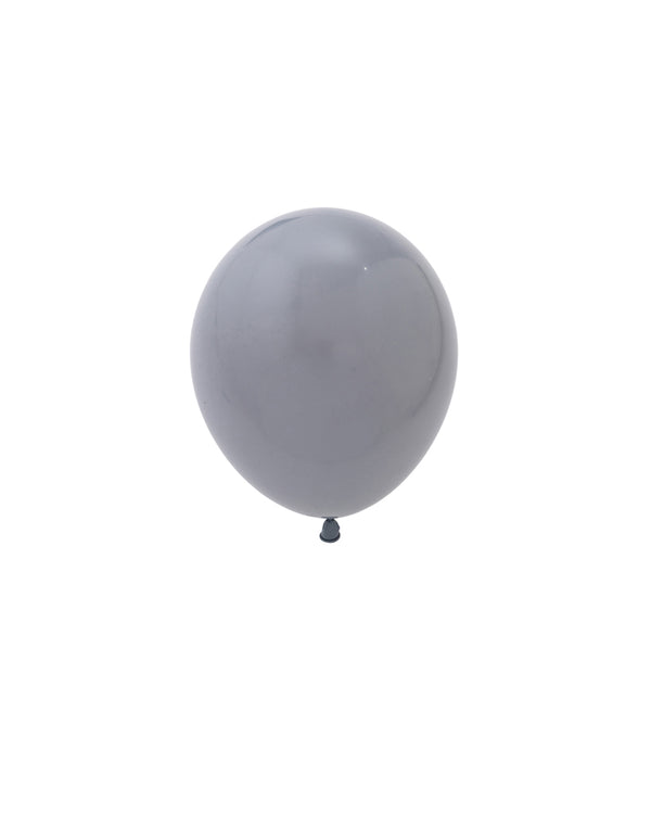 5 Flat Grey Mini Balloons
