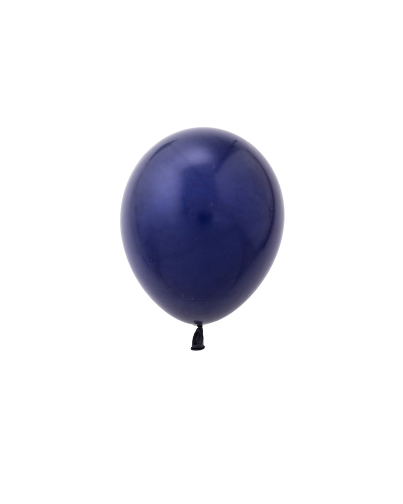 5 Flat Navy Mini Balloons