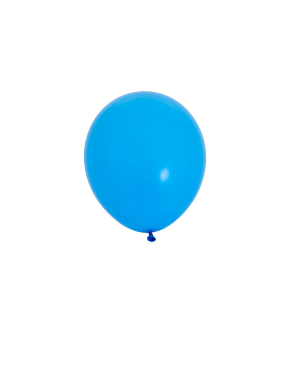 5 Flat Blue Mini Balloons