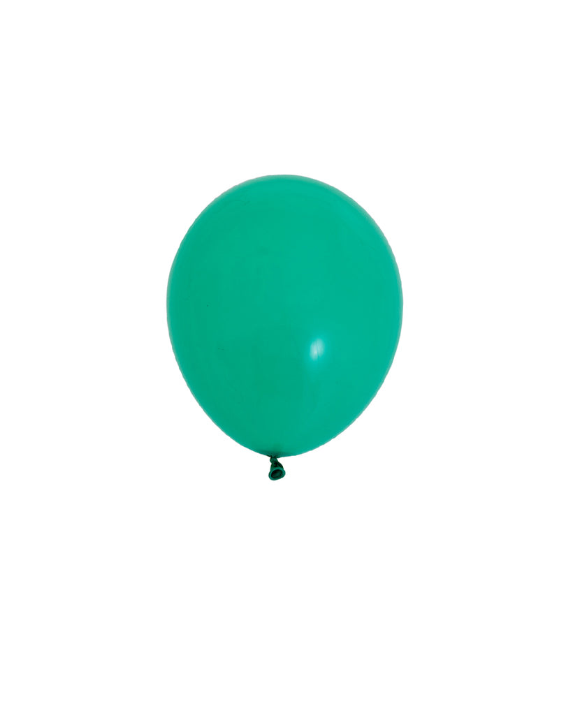 5 Flat Wintergreen Mini Balloons