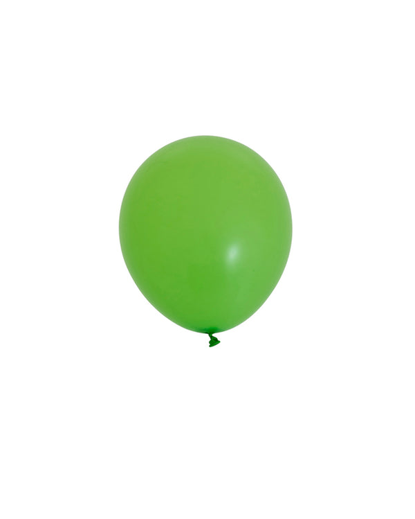 5 Flat Lime Mini Balloons