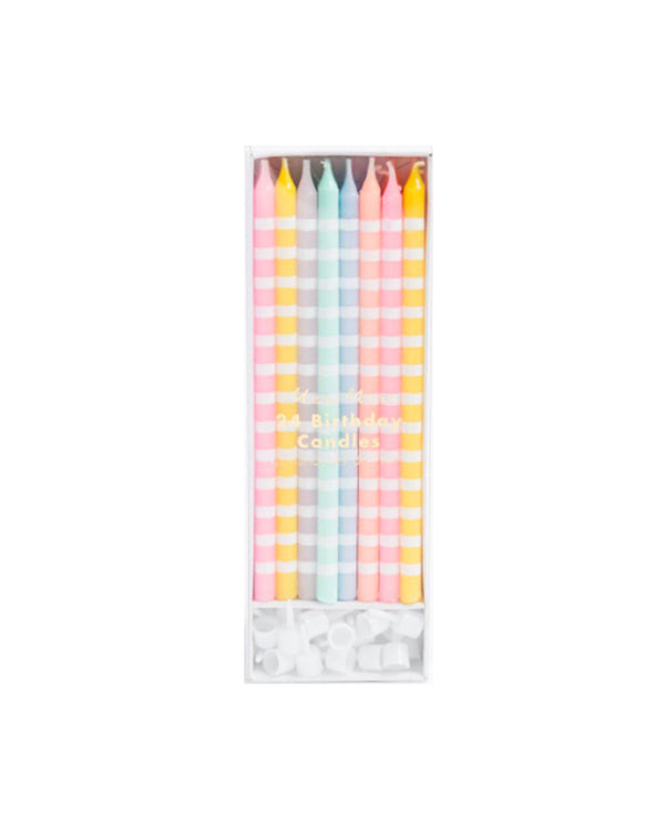 Meri Meri Pastel Stripe Candles