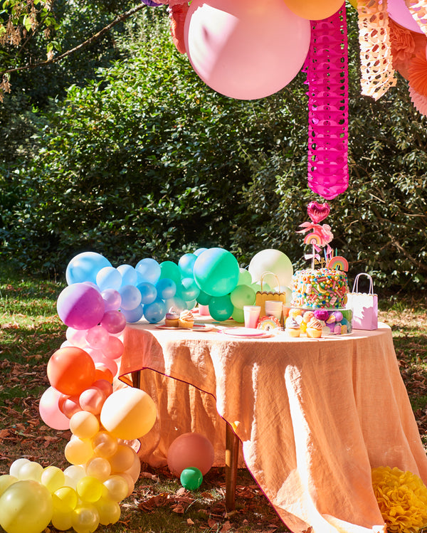 Small Pastel Rainbow Balloon Garland