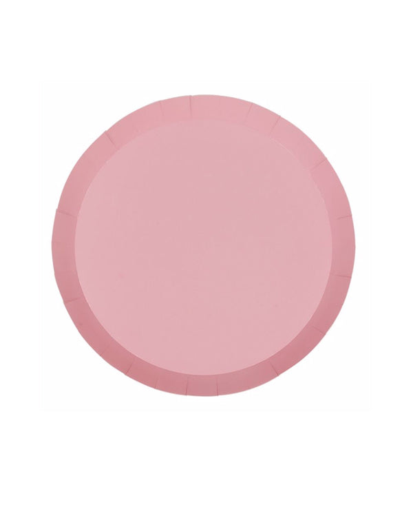 Rose Pink Paper Plates