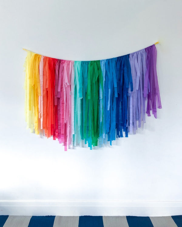 Rainbow Streamer Garland