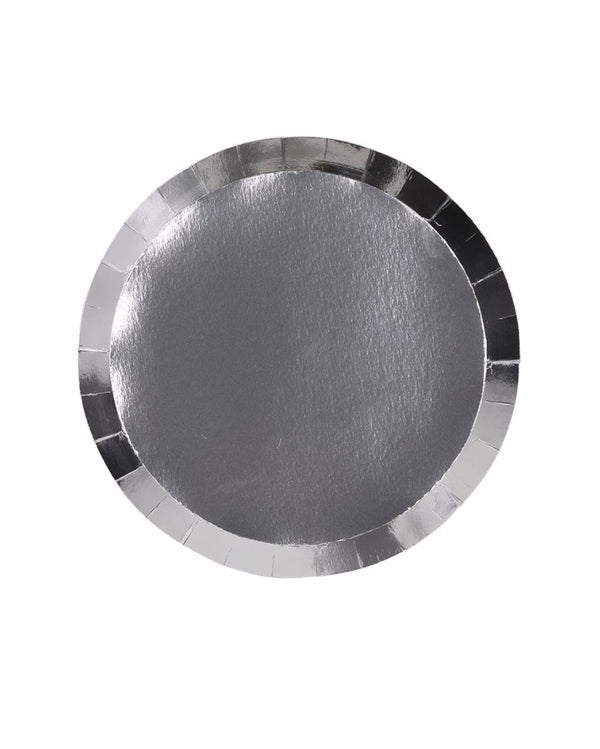 Shiny Silver Paper Plates