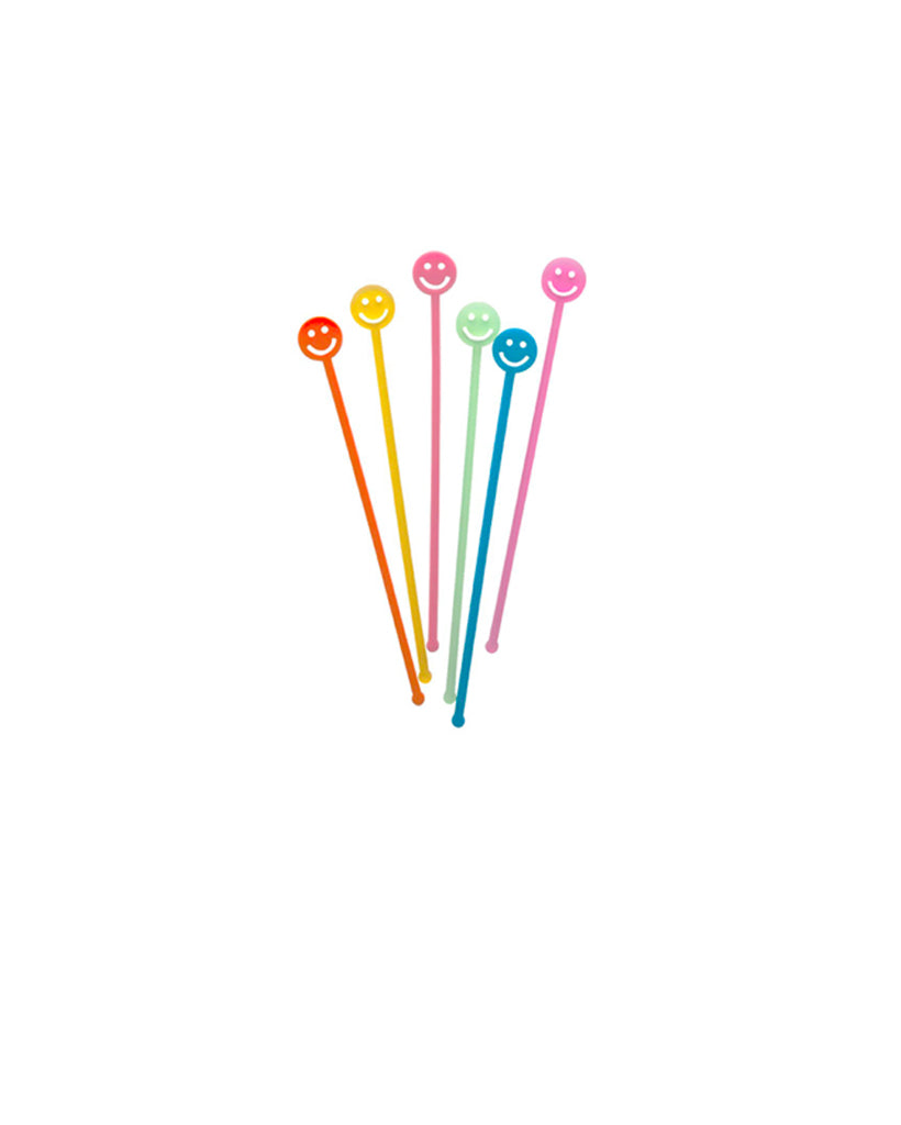 Smiley Face Drink Stirrers