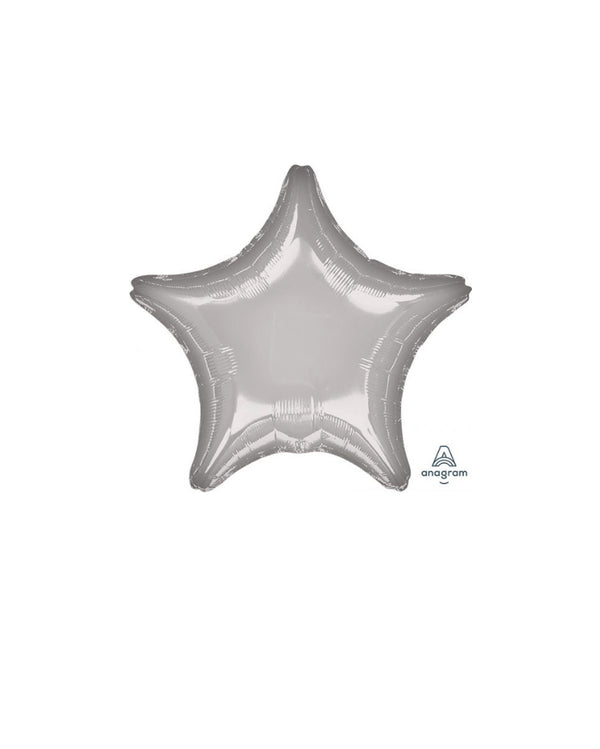 Star Silver Foil Balloon