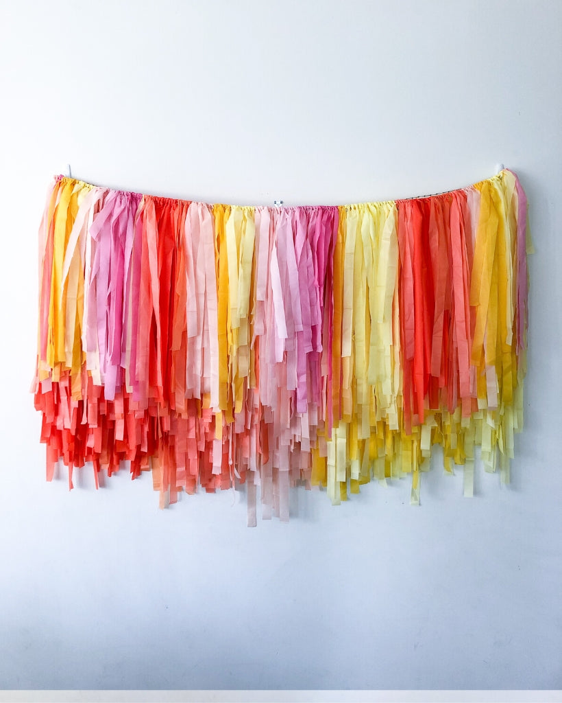 Summer Sorbet Streamer Hanging