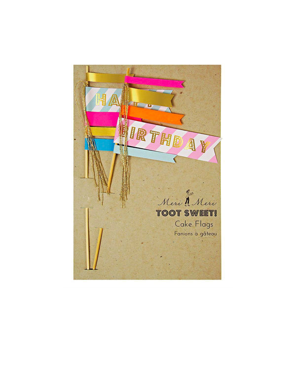 Toot Sweet Flag Cake Topper