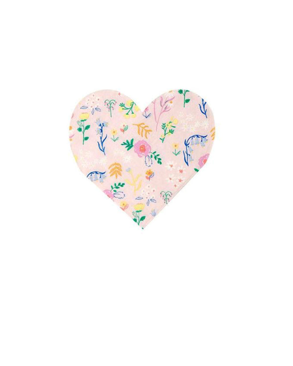 Wildflower Heart Napkins