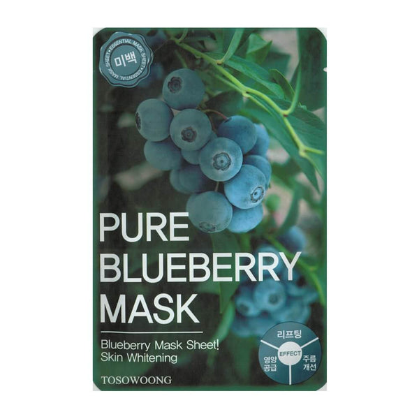 Tosowoong Pure Blueberry Mask Pack Sheet Sheet Mask - Crystal Cove Beauty