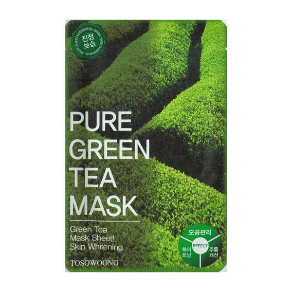 Tosowoong Pure Green Tea Mask Pack Sheet Sheet Mask - Crystal Cove Beauty