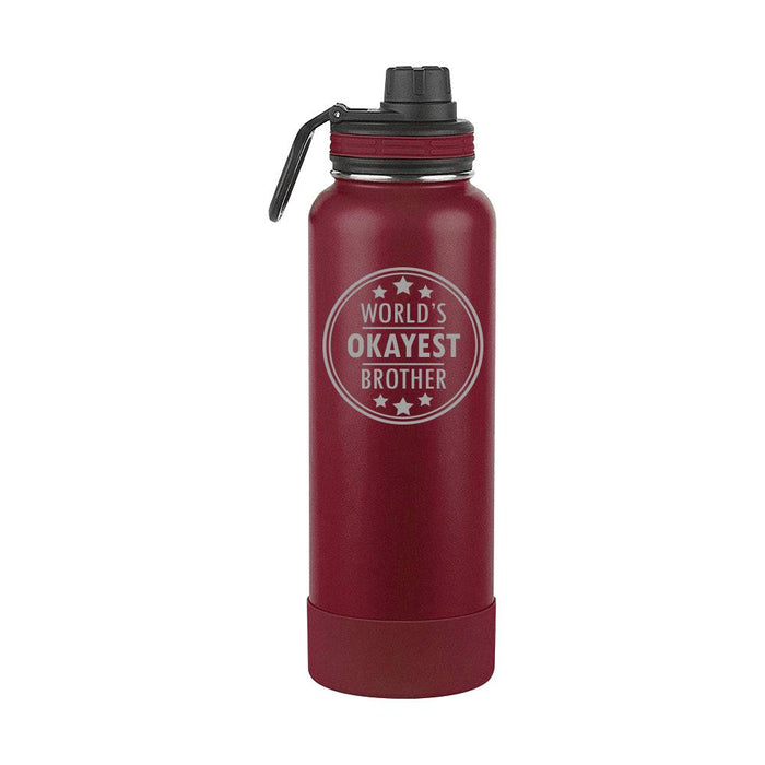 Worlds Okayest Brother Thermoflask Gift (1713)