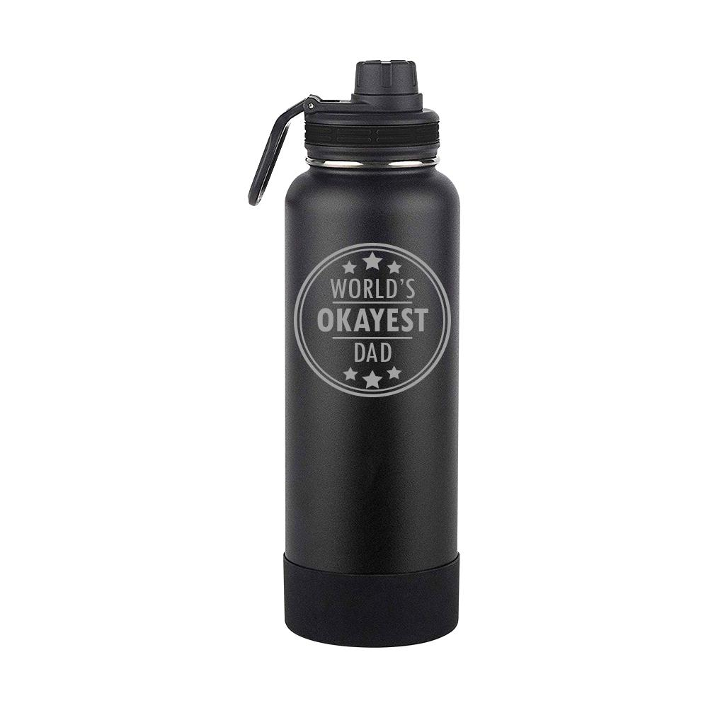 Worlds Okayest Dad Thermoflask Gift (1713)