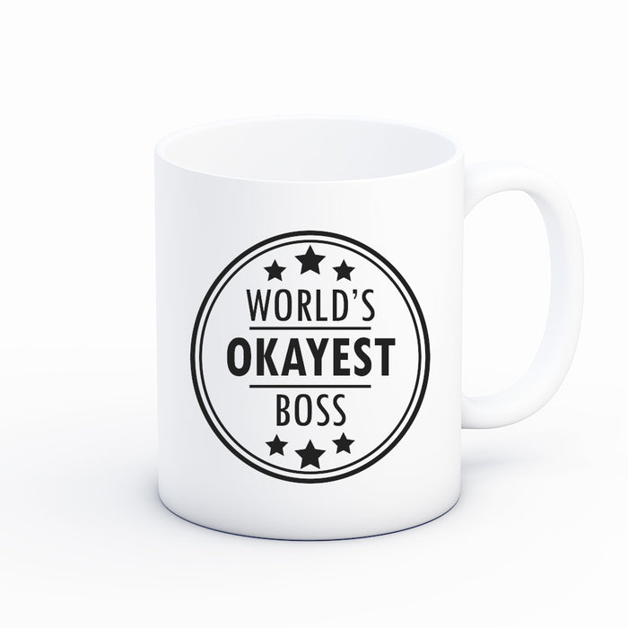 Worlds Okayest Boss Coffee Mug