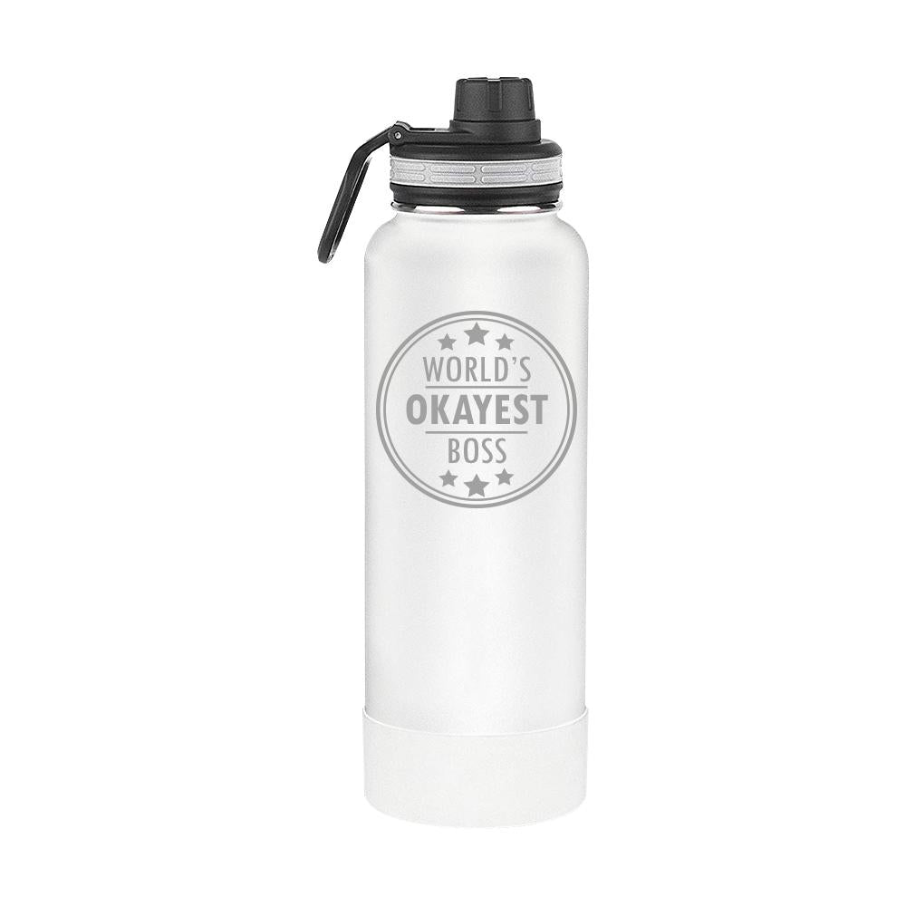 Worlds Okayest Boss Thermoflask Gift (1713)