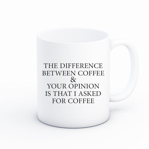 Difference Between Coffee and Your Opinion