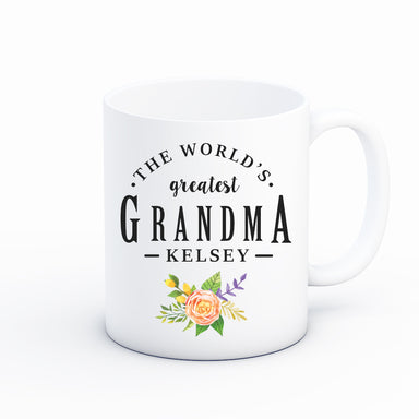 Worlds Greatest Grandma Custom Coffee Mug