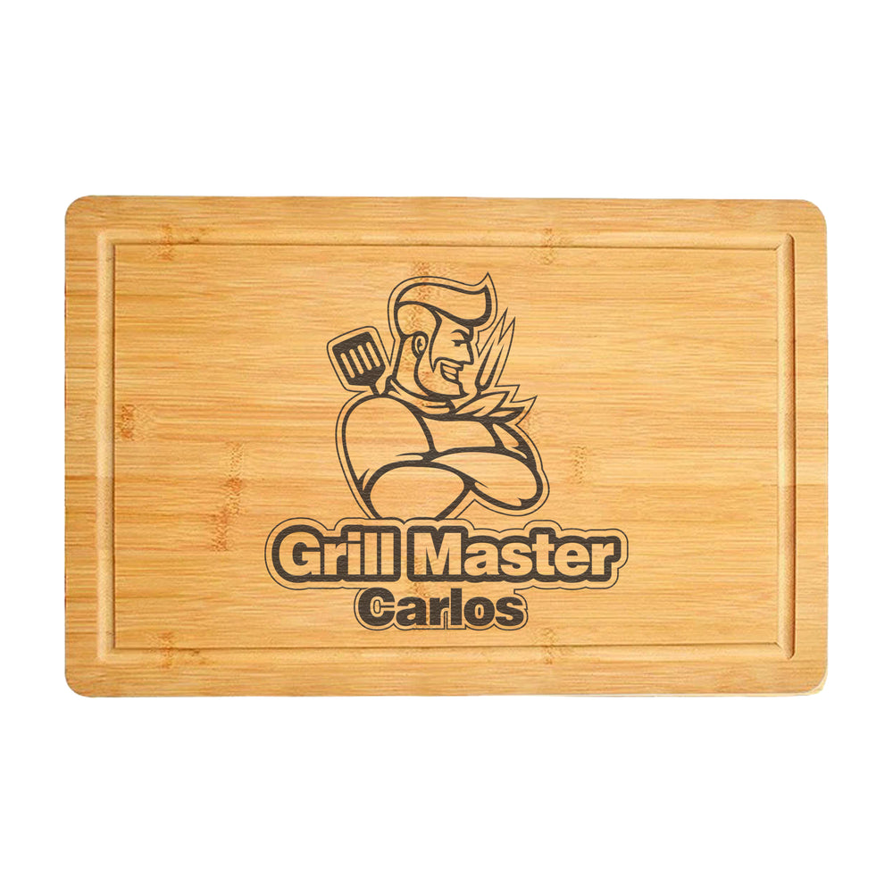 Custom Cutting Board Gift for Grill Chef's Dad (3861)