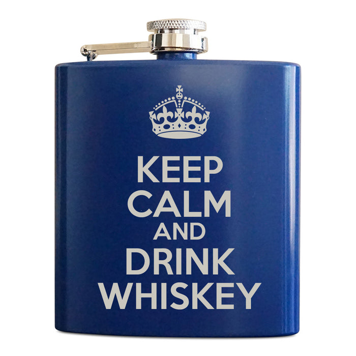 Personalized Flasks - Keep Calm Drink Whiskey - Froolu - 1