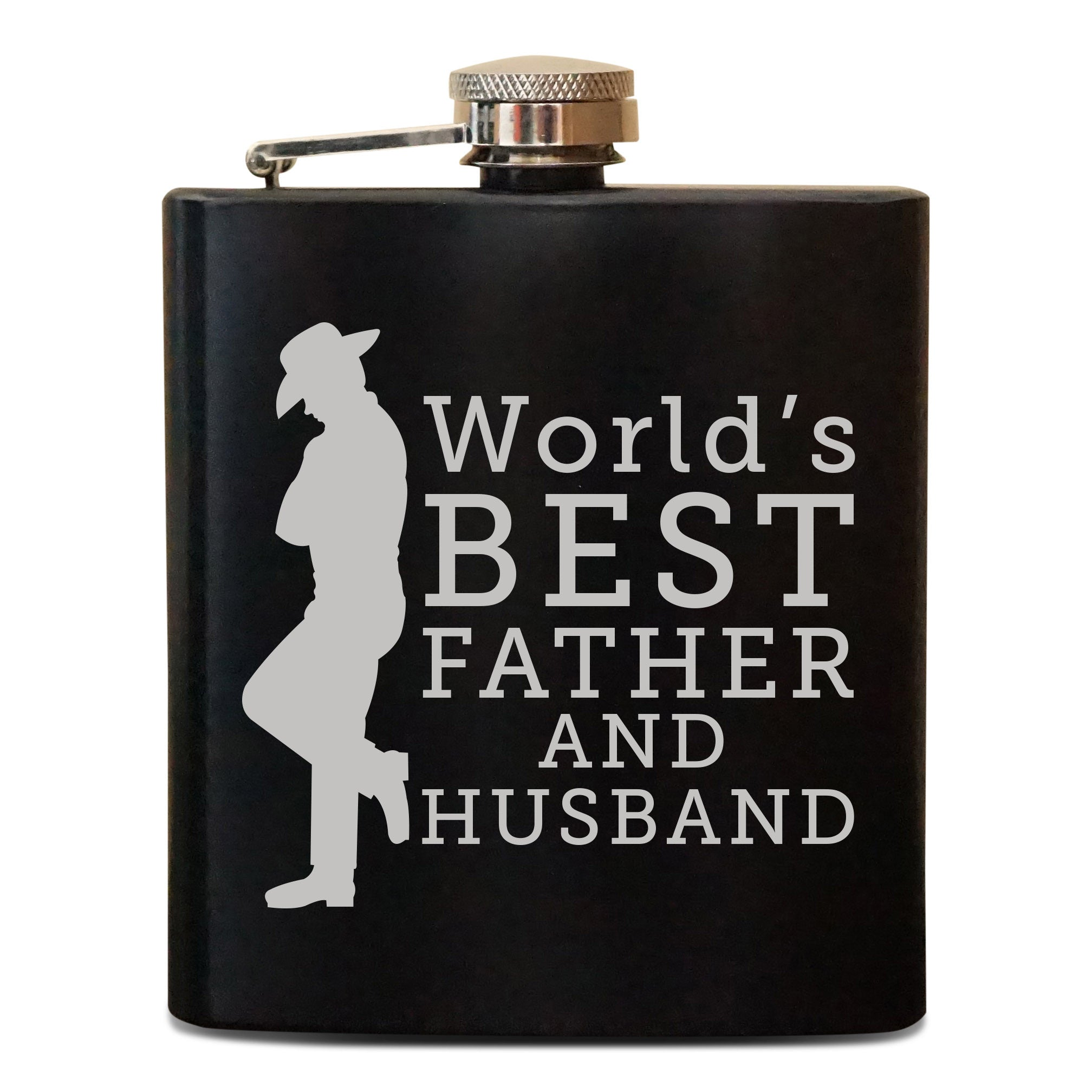 Personalized Flask - World's Best Dad & Husband - Froolu - 1