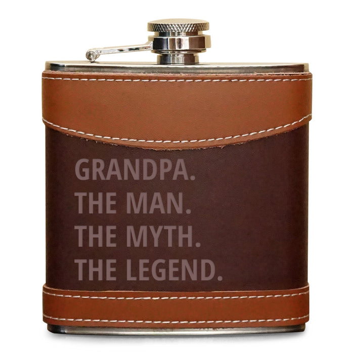 Personalized Flask Grandpa The Myth The Legend - Froolu - 1