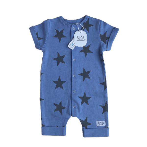 Blue Star Baby Suit in Organic Cotton – Baba   Friends 343caeeb9