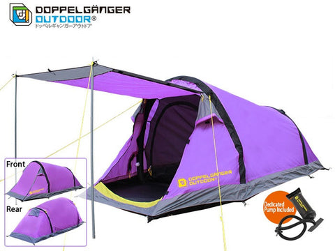 2 Person Inflatable Tent + Vestibule + Awning Doppelganger Outdoor Australia Caravan Camping Tent