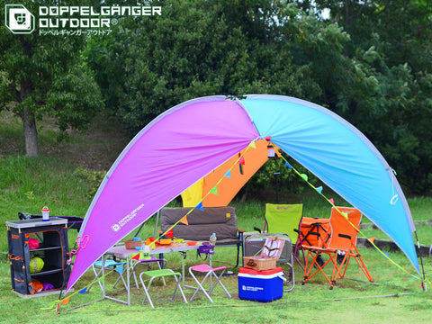 Rainbow Party Sun Shelter Shade Doppelganger Outdoor Australia Caravan Camping Tent