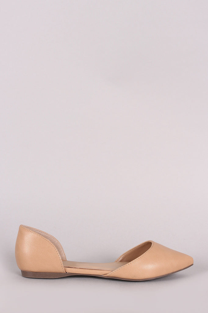 Breckelle Pointy Toe Slip On Dorsay Flat