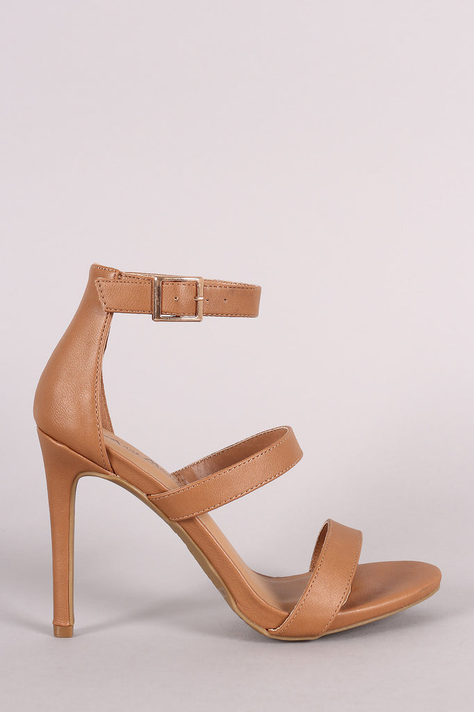 Anne Michelle Triple Straps Single Sole Heel